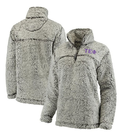 Tau Epsilon Phi Embroidered Sherpa Quarter Zip Pullover