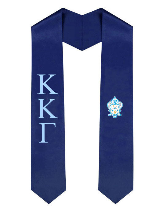 Kappa Kappa Gamma Lettered Graduation Sash Stole with Crest