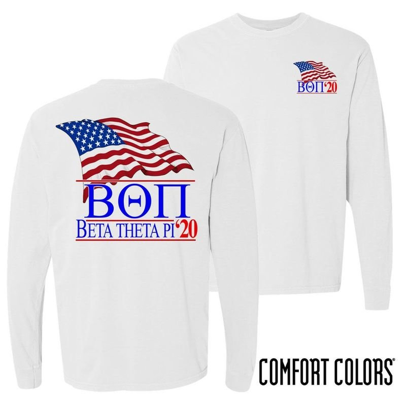 Patriot Flag Comfort Colors Long Tee Patriot Flag Comfort Colors Long Tee