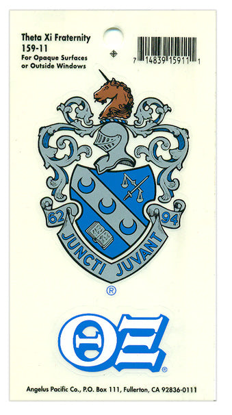 Theta Xi Crest Decal