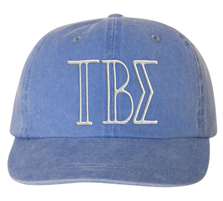 Tau Beta Sigma Sorority Greek Carson Embroidered Hat