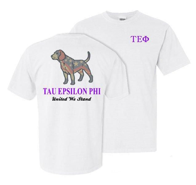 Tau Epsilon Phi Stand Tall Comfort Colors Heavy Tee