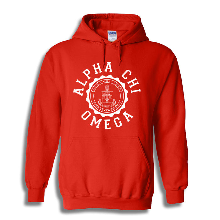 Alpha Chi Omega World Famous Seal Crest Hoodie