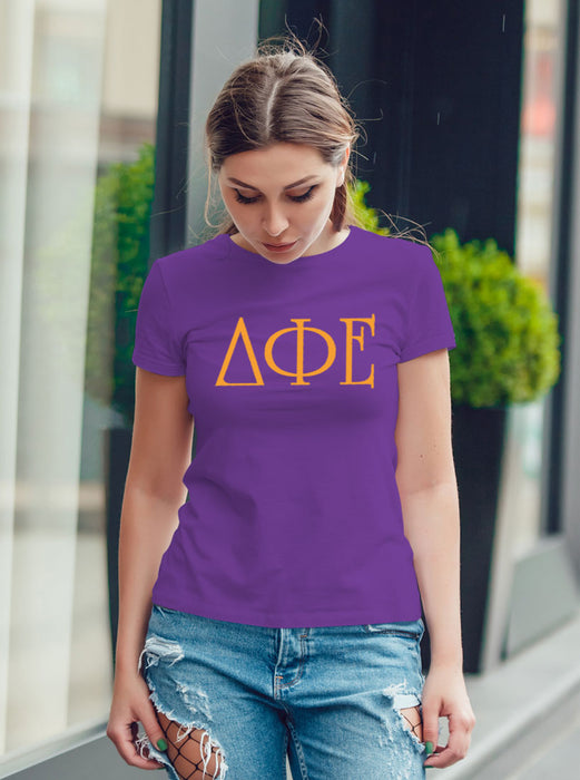 Delta Phi Epsilon University Letter T-Shirt