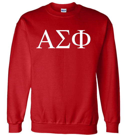 Alpha Sigma Phi World Famous Lettered Crewneck Sweatshirt