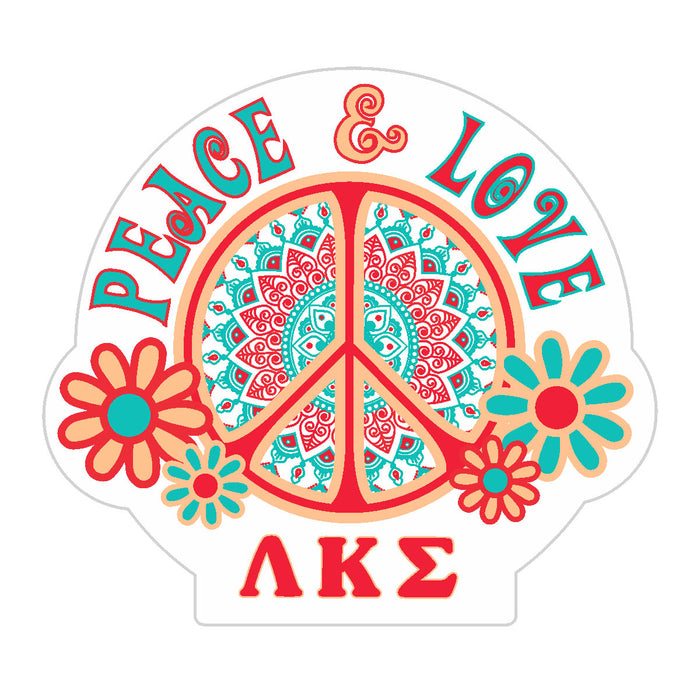 Lambda Kappa Sigma Peace Sticker