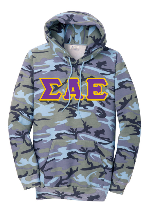 Sigma Alpha Epsilon Camo Hooded Pullover Sweatshirt