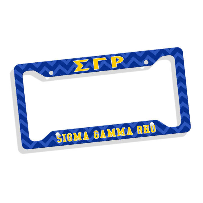 Sigma Gamma Rho New License Plate Frame