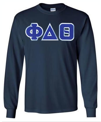 Phi Delta Theta Long Sleeve Greek Lettered Tee