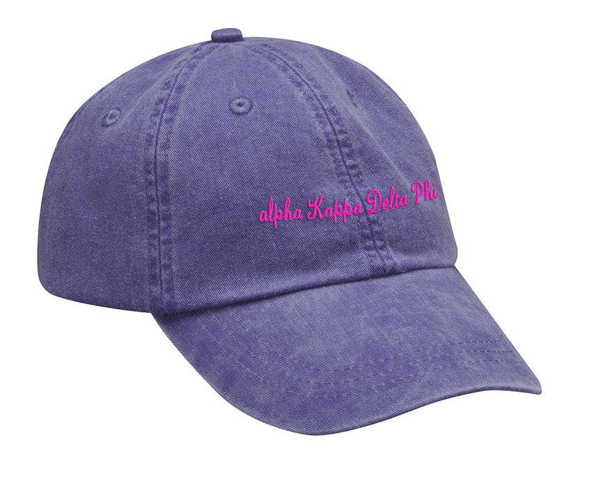 Alpha Kappa Delta Phi Cursive Embroidered Hat