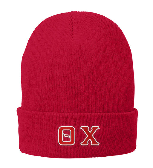 Theta Chi Lettered Knit Cap