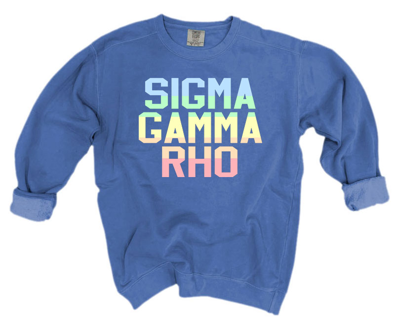 Sigma Gamma Rho Comfort Colors Pastel Sorority Sweatshirt