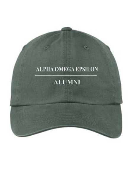 Alpha Omega Epsilon Custom Embroidered Hat