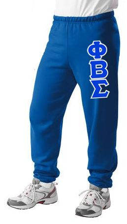 Phi Beta Sigma Sweatpants with Sewn-On Letters