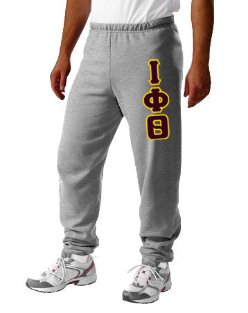 Iota Phi Theta Sweatpants with Sewn-On Letters