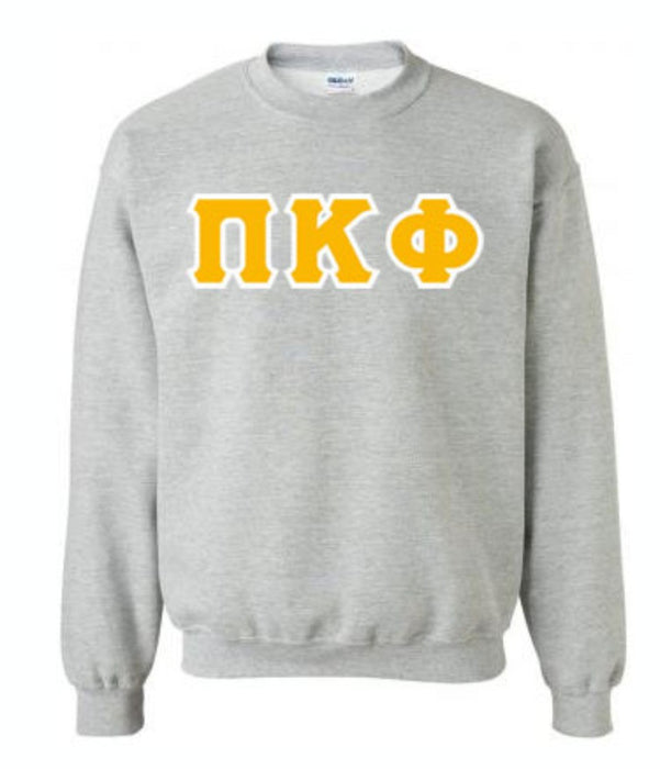 Pi Kappa Phi Classic Colors Sewn-On Letter Crewneck