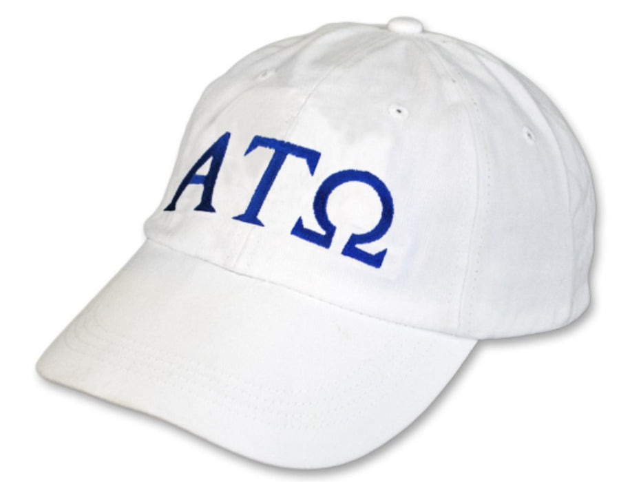 Alpha Tau Omega Greek Letter Embroidered Hat