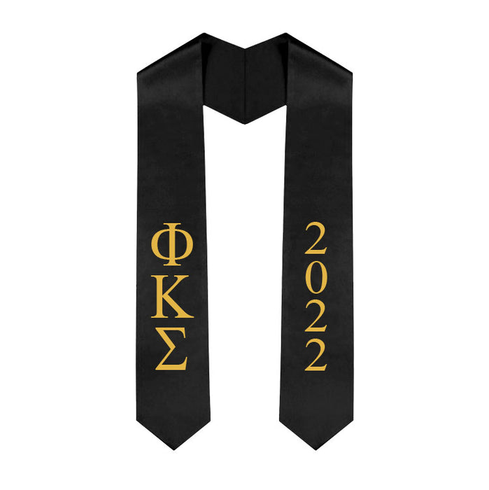 Phi Kappa Sigma Vertical Grad Stole with Letters & Year