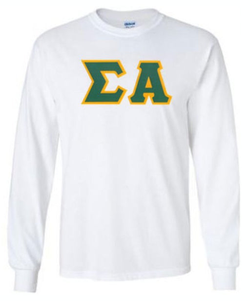 Sigma Alpha Long Sleeve Greek Lettered Tee