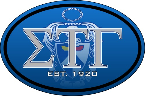 Sigma Tau Gamma Color Oval Decal