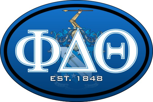 Phi Delta Theta Color Oval Decal