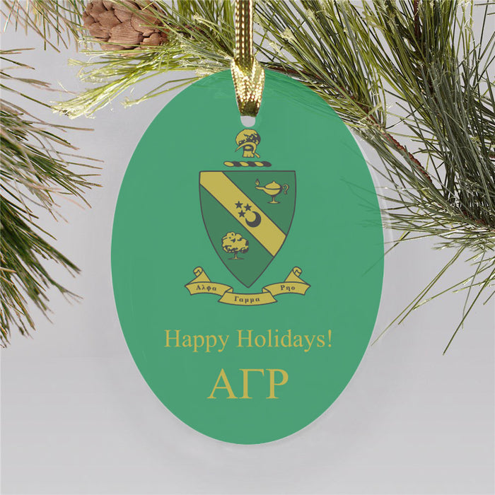 Alpha Gamma Rho Color Crest Ornament