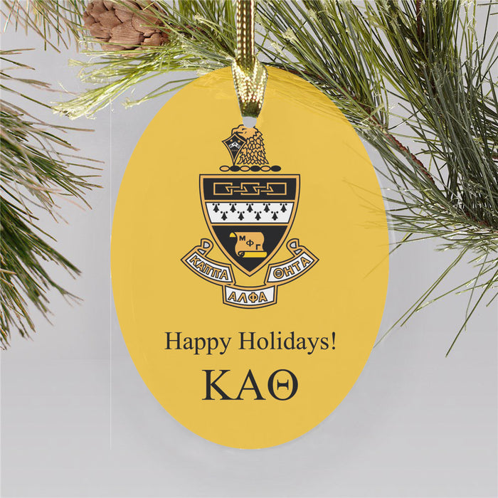 Kappa Alpha Theta Color Crest Ornament