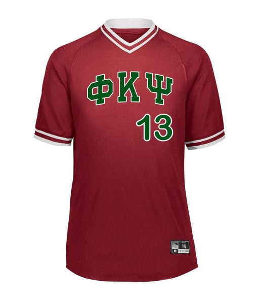 Phi Kappa Psi Retro V-Neck Baseball Jersey