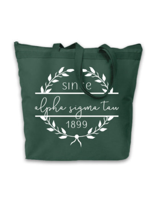 Alpha Sigma Tau Since Established Tote