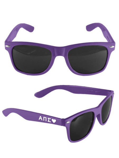Alpha Pi Sigma Malibu Heart Sunglasses