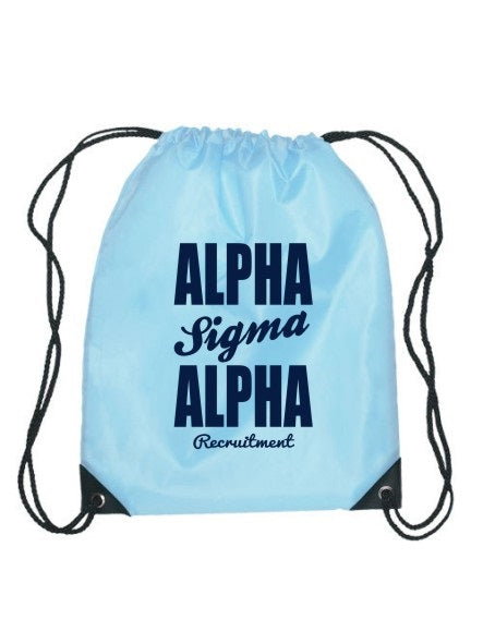 Alpha Sigma Alpha Cursive Impact Sports Bag