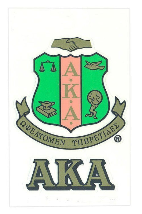 Alpha Kappa Alpha Crest Decal