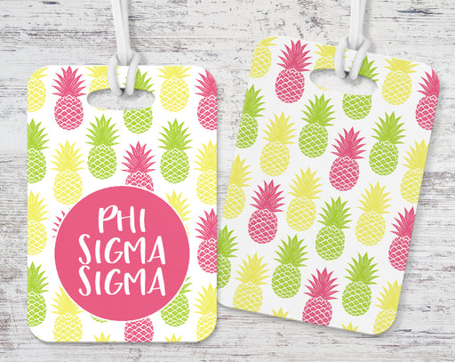 Phi Sigma Sigma Pineapple Luggage Tag