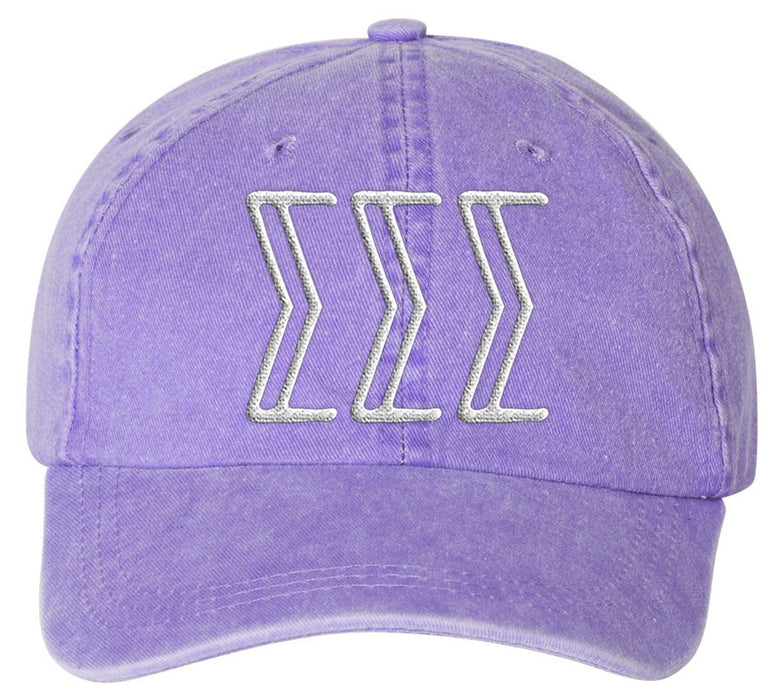 Sigma Sigma Sigma Sorority Greek Carson Embroidered Hat