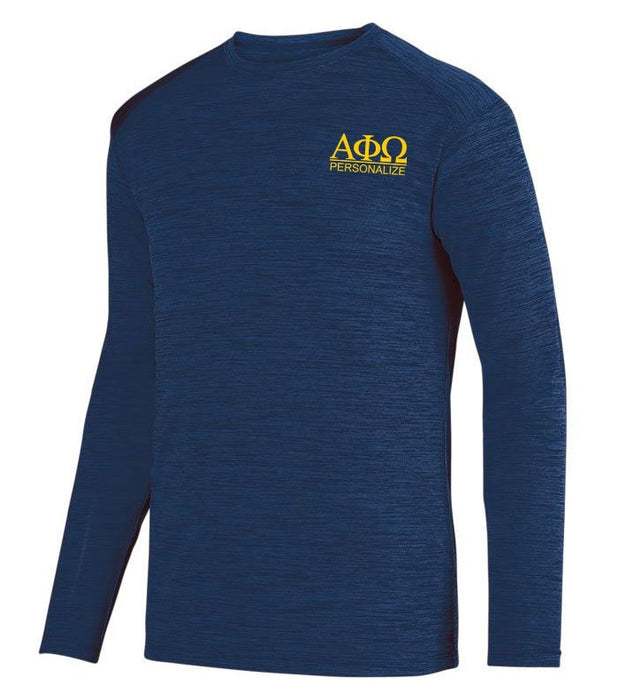 Alpha Phi Omega $20 World Famous Dry Fit Tonal Long Sleeve Tee