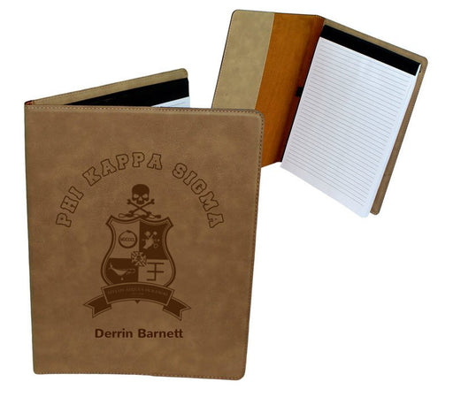 Phi Kappa Sigma Leatherette Portfolio with Notepad