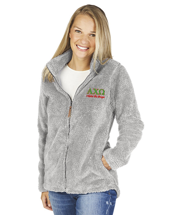 Alpha Chi Omega Newport Full Zip Fleece Jacket
