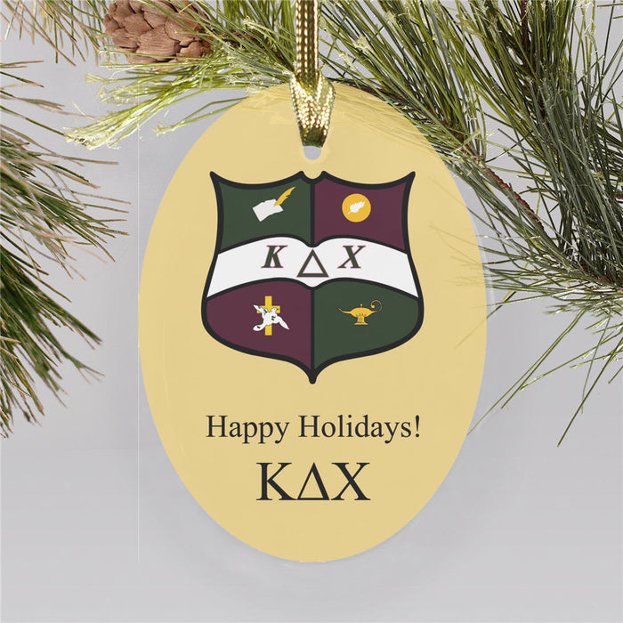 Kappa Delta Chi Color Crest Ornament