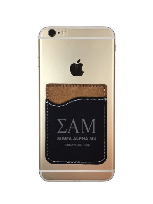 Sigma Alpha Mu Engraved Phone Wallet