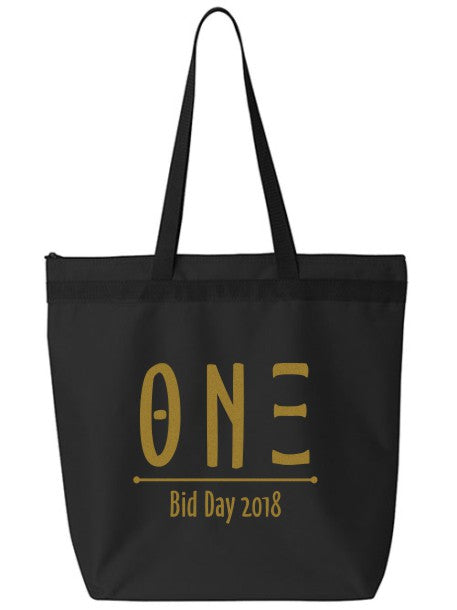 Theta Nu Xi Oz Letters Event Tote Bag