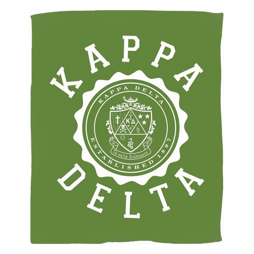 Kappa Delta Seal Fleece Blankets Kappa Delta Seal Fleece Blankets