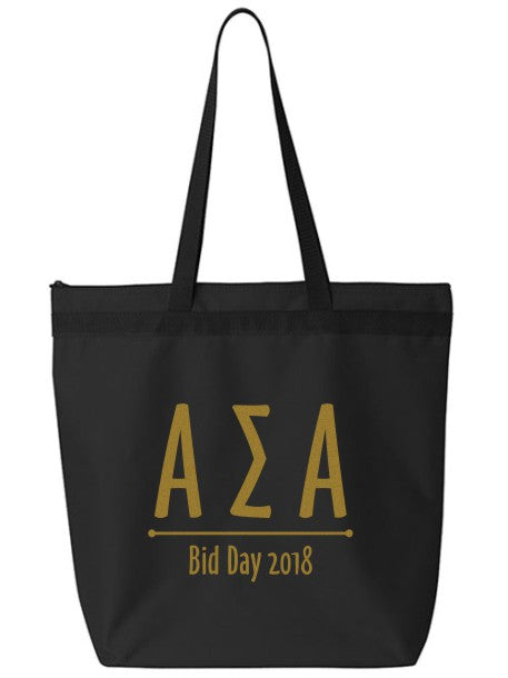 Alpha Sigma Alpha Oz Letters Event Tote Bag