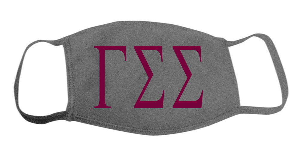 Gamma Sigma Sigma Face Mask With Big Greek Letters