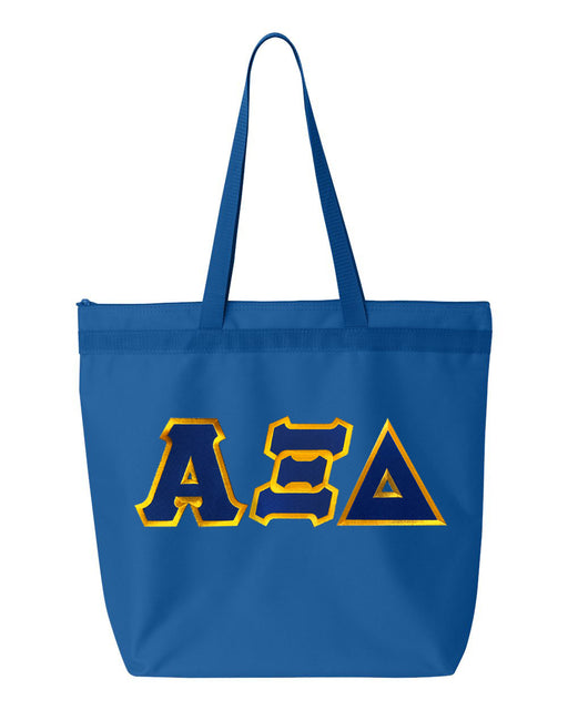 Alpha Xi Delta Greek Lettered Game Day Tote