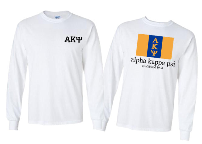 Alpha Kappa Psi Long Sleeve Flag Tee