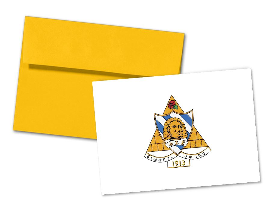 Phi Sigma Sigma Sorority Crest Note Cards