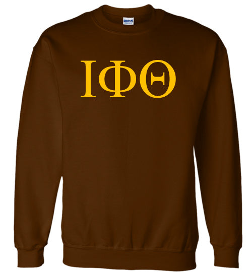 Iota Phi Theta World Famous Lettered Crewneck Sweatshirt