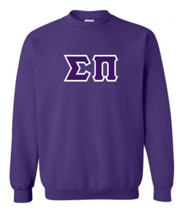 Sigma Pi Classic Colors Sewn-On Letter Crewneck