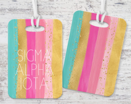 Sigma Alpha Iota Bright Stripes Luggage Tag