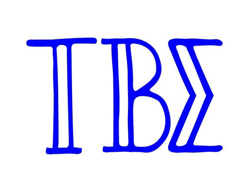 Tau Beta Sigma Inline Greek Letter Sticker - 2.5